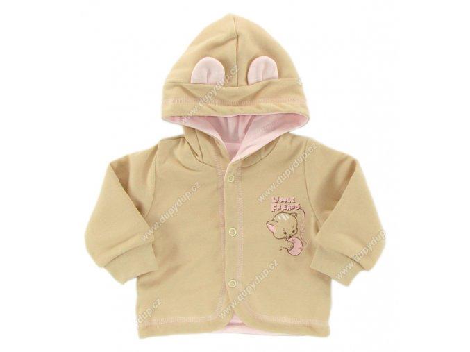 Kabátek s kapucí EWA - KITTY - růžový