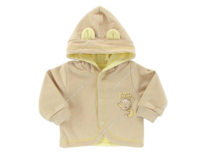 Kabátek s kapucí EWA - KITTY - žlutý