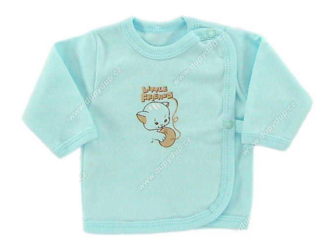 Kojenecká košilka EWA - KITTY tyrkysová
