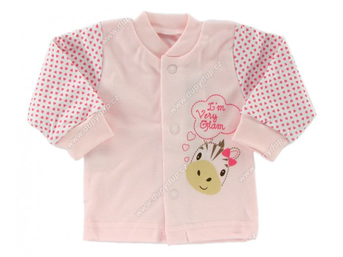 Kojenecký kabátek EWA - SWEET růžový