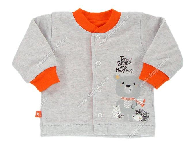 Kojenecký kabátek EWA Forest - oranžový