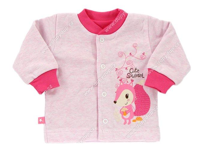 Kojenecký kabátek EWA Forest - růžový