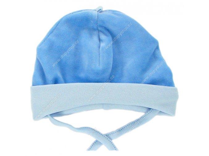 Sametová čepička EWA CIRCUS modrá