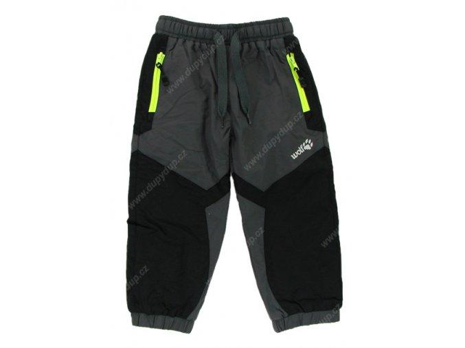 Kalhoty s fleesovou podšívkou WOLF B2571 šedé