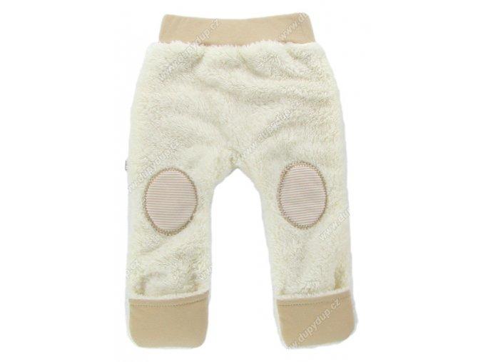 Vyteplené kojenecké kalhoty EWA Teddy Bear béžové