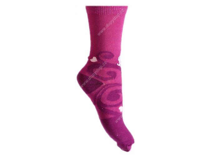 Dětské ponožky Sofie fialové