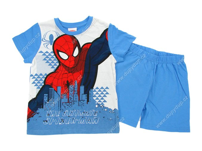 Chlapecké pyžamo SPIDER MAN světle modré