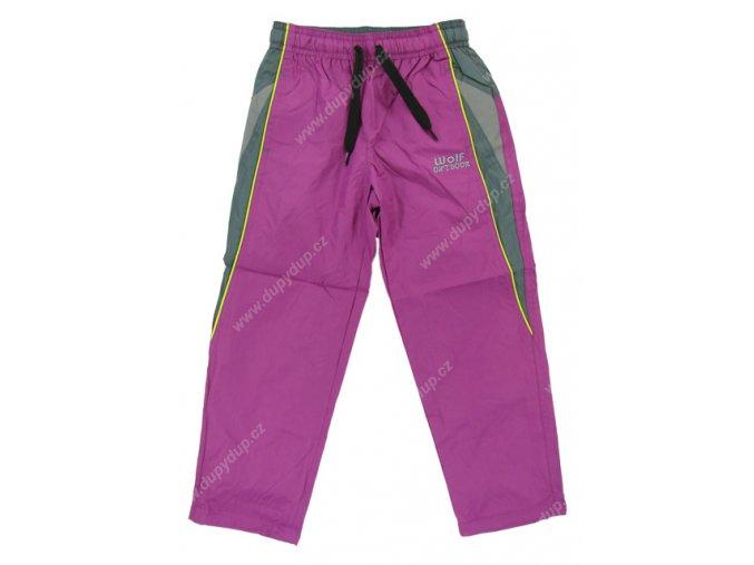 Dívčí šusťákové kalhoty WOLF T2662