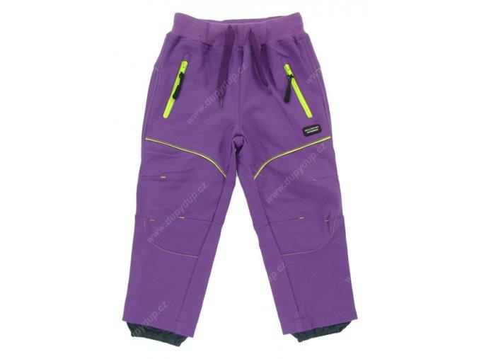 Dětské softshellové kalhoty WOLF B2681 fialové