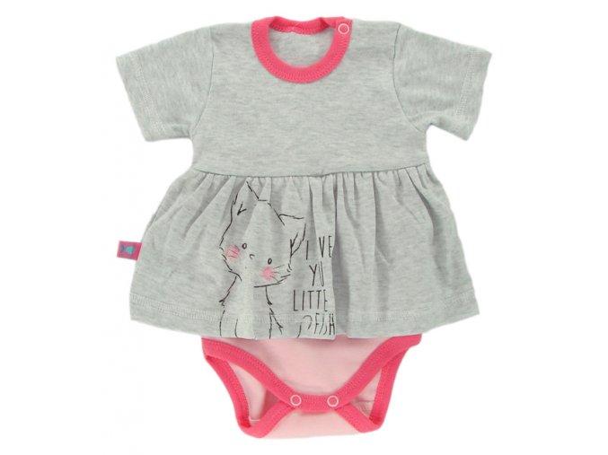 Kojenecké body se sukýnkou EWA Petite růžové
