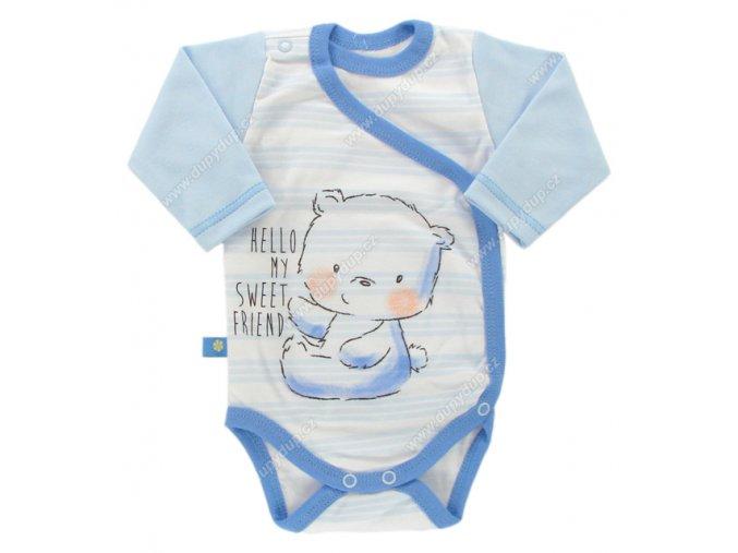 Zavinovací kojenecké body Ewa Petite modré