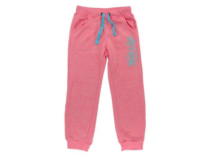 Dívčí tepláky KUGO T201 růžové