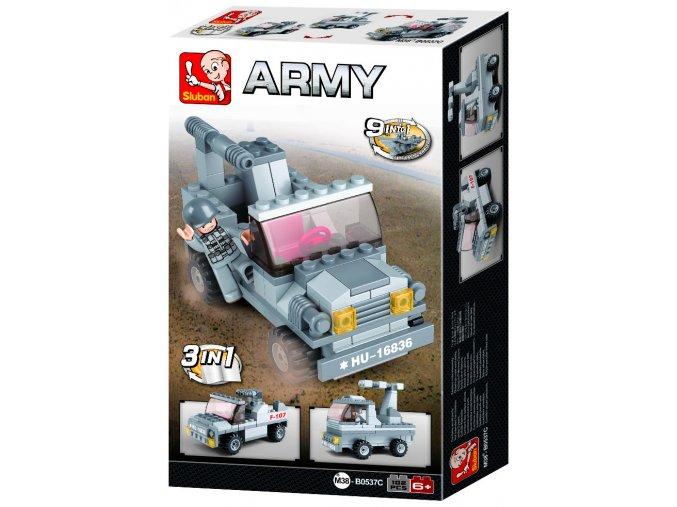 Stavebnice Sluban Army Raketomet 3v1