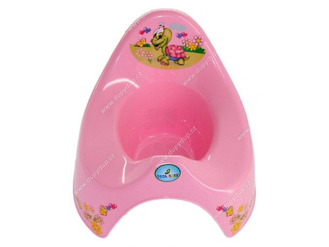 Nočník hrací želvička růžový