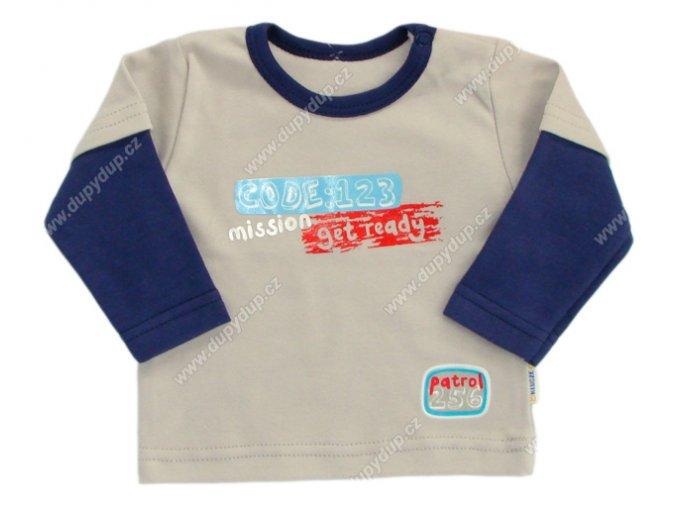 Tričko s dlouhým rukávem EWA - NEON šedé