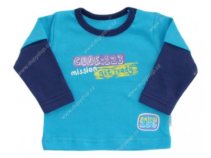 Tričko s dlouhým rukávem EWA - NEON modré