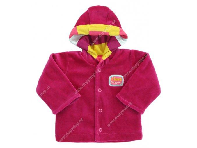 Sametový kabátek s kapucí EWA NEON - vínový