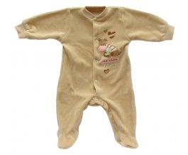 Sametový kojenecký overal EWA TUPTUS - růžový
