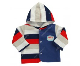 Kabátek s kapucí EWA NEON - modročervený