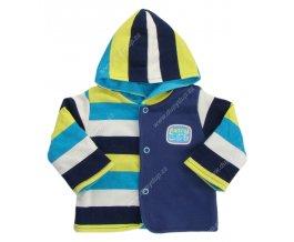 Kabátek s kapucí EWA NEON - modrožlutý