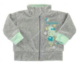 Sametový kabátek s podšívkou EWA MOUSE - zelený