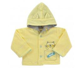 Kabátek s kapucí EWA PASTELS - žlutý