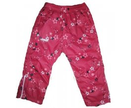 LOAP AROL dětské zimní kalhoty růžové kytky