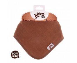KIKKO Bambusový dětský slintáček/šátek XKKO BMB - Milk Choco