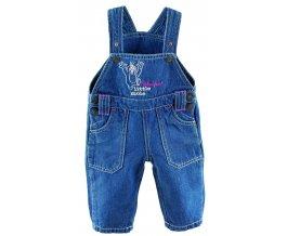 G-mini laclové kalhoty Rocky G4148 - modrá s růžovým prošitím