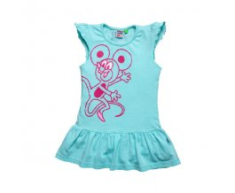 G-mini dívčí šaty Ida K5006 tyrkysová