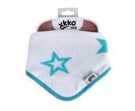 KIKKO Bambusový dětský slintáček/šátek - Turquoise Stars