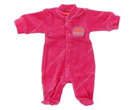 Sametový kojenecký overal EWA NEON - růžový
