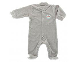 Sametový kojenecký overal EWA NEON - šedý