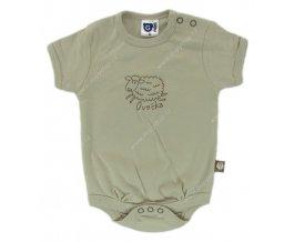 G-mini kojenecké body s krátkým rukávem G5103 hnědé