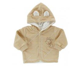 Kabátek s kapucí EWA - KITTY - smetanový