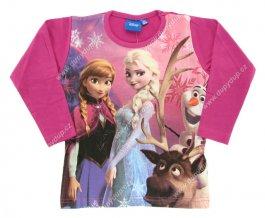 DISNEY Dívčí tričko s dlouhým rukávem ELSA fialové