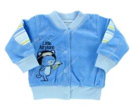 Sametový kojenecký kabátek EWA CIRCUS modrý