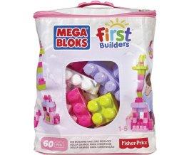 Mega Bloks Kostky v plastovém pytli růžová 60 ks