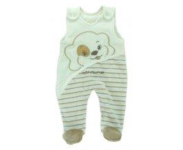 Sametové kojenecké dupačky EWA Bunny smetanové