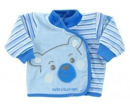 Sametový kojenecký kabátek EWA Bunny modrý