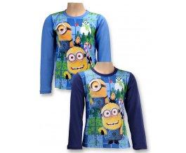 DISNEY Dětské tričko s dlouhým rukávem Mimoni sv.modré