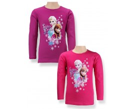 DISNEY Dívčí tričko s dlouhým rukávem ELSA fialkové