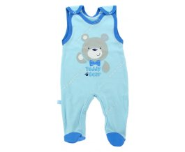 Kojenecké dupačky EWA Teddy Bear modré