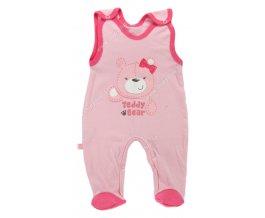 Kojenecké dupačky EWA Teddy Bear růžové