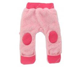 Vyteplené kojenecké kalhoty EWA Teddy Bear růžové