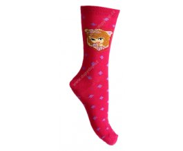Dětské ponožky Sofie malinové