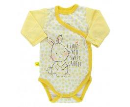 Zavinovací kojenecké body Ewa Petite žluté