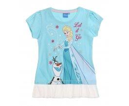 Dívčí tričko s krátkým rukávem FROZEN tyrkysové