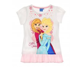 Dívčí tričko s krátkým rukávem FROZEN bílé