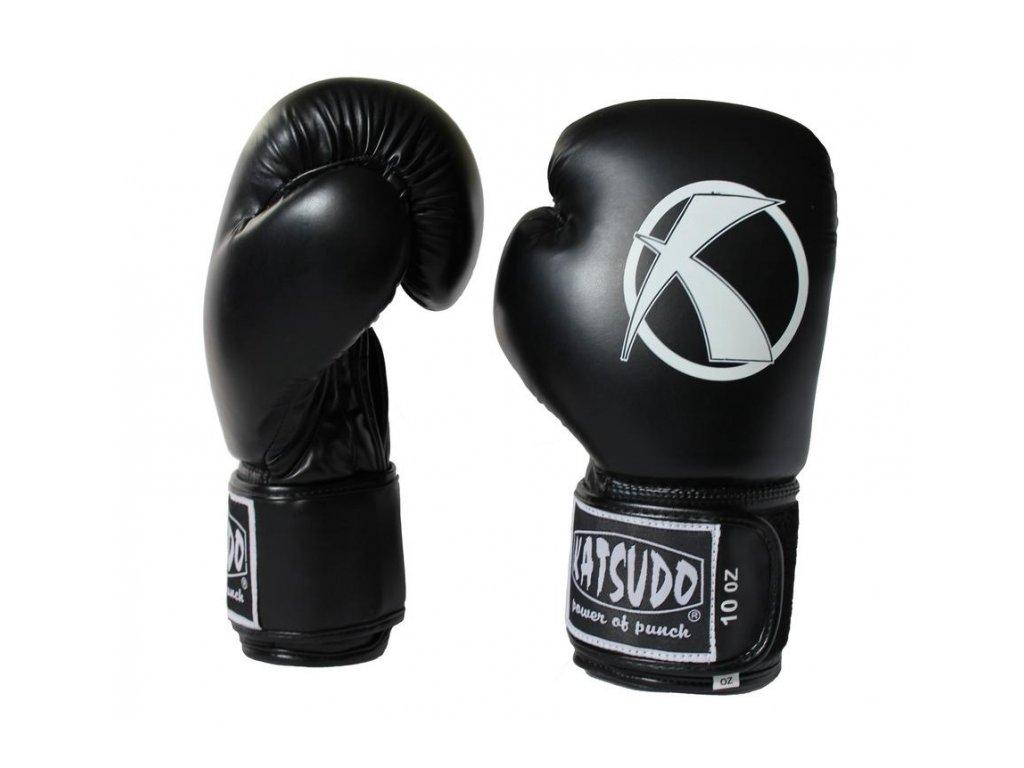 Boxovací rukavice Katsudo Punch černé